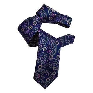 Dmitry Men's Purple Italian Patterned Silk Tie