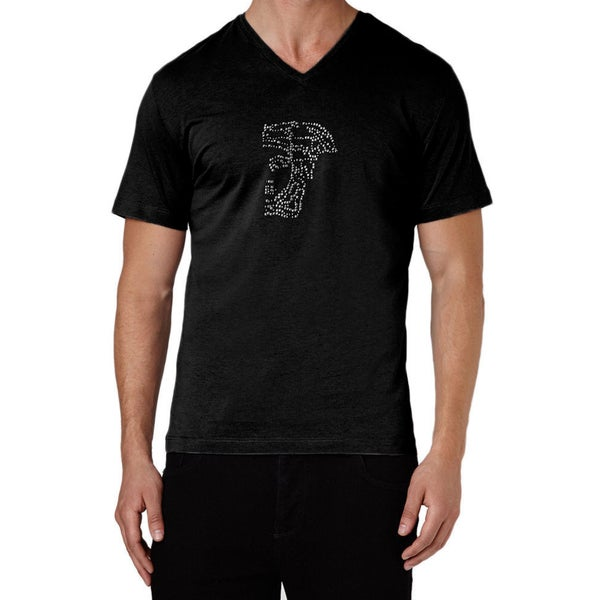 Versace Collection Black Half Medusa Studded T-shirt