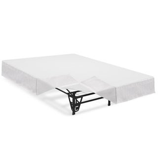 Crown Comfort 14-inch Twin-size Platform Bed Frame and Mattress Foundation with Brackets and Skirt