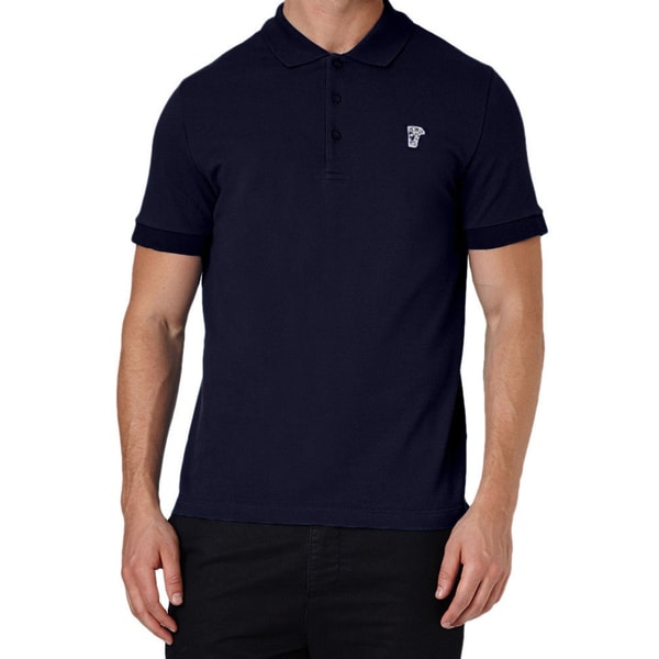 Versace Collection Navy Pique Polo