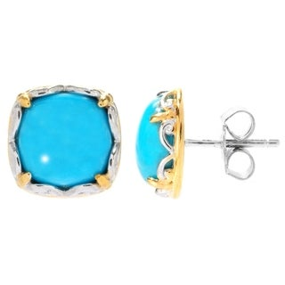 Michael Valitutti Matrix Sleeping Beauty Turquoise Stud Earrings