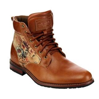 Floral Print Anke Cuff Boots