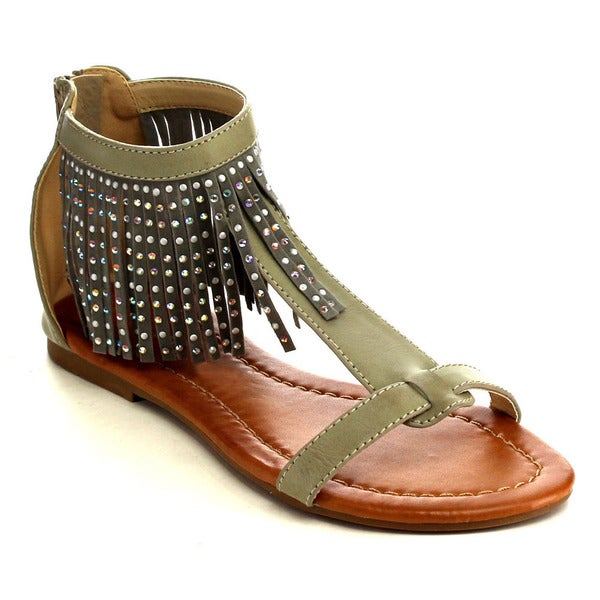 Fringe Flat Sandal