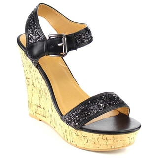 Beston GB46 Women's Ankle Wide Straps Platform Wedge