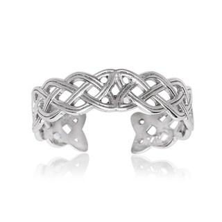 14k White Gold Celtic Knot Adjustable Toe Ring