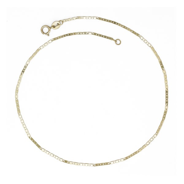 10k Yellow Gold 10-inch Thin Mariner Chain Anklet