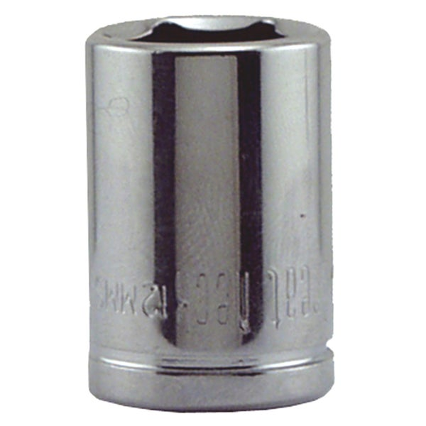 "Great Neck 12MMS 12MM X 1/4"" Drive 6 Point Socket Metric"