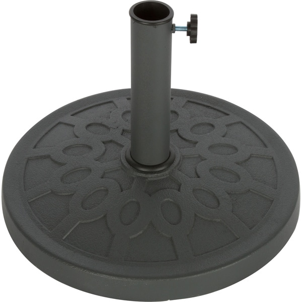 Trade Mark Innovations 17.5-Inch Grey Decorative Resin Umbrella Base