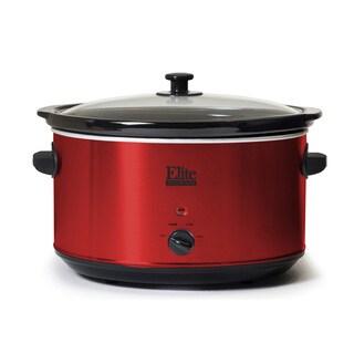 Elite Platinum MST-900R 8.5-quart Slow Cooker, Red