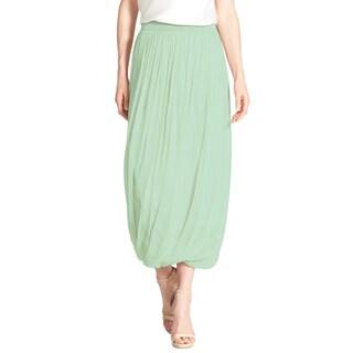 Elie Tahari Women's Green Silk Chiffon Maxi Skirt