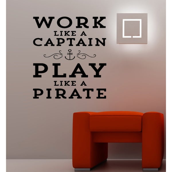 Play Like A Pirate quote Wall Art Sticker Decal