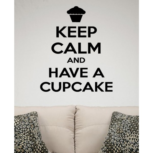 Keep Calm and Have a Cupcake quote Wall Art Sticker Decal