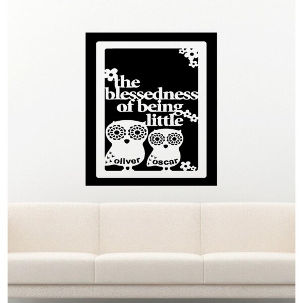 Owls The Blessedness of Being Little Wall Art Sticker Decal