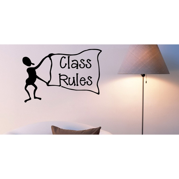 Funny people Classroom Rules Wall Art Sticker Decal