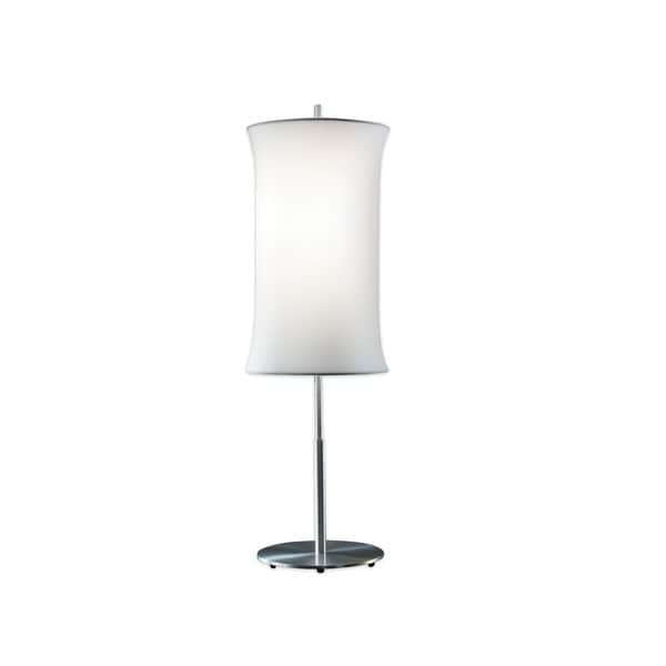 Sonneman Lighting Lightweights Cylinder Table Lamp with White Shade