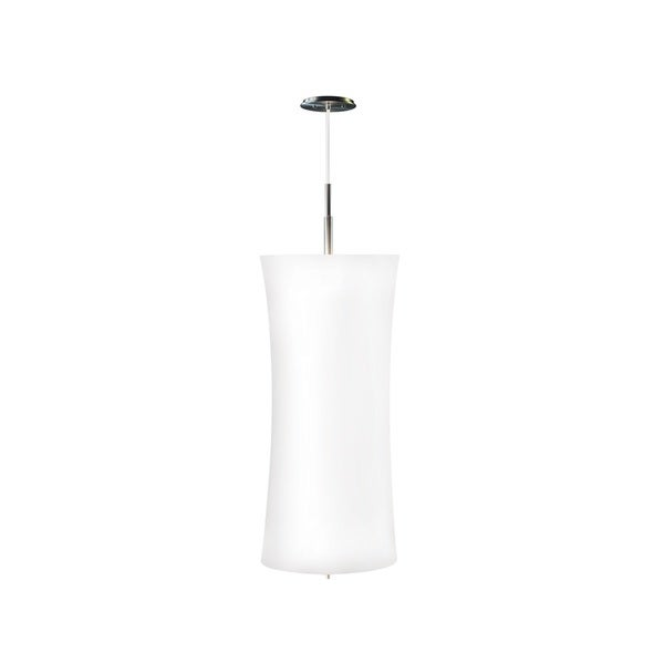 Sonneman Lighting Lightweights Large Cylinder Ceiling Pendant with White Shade