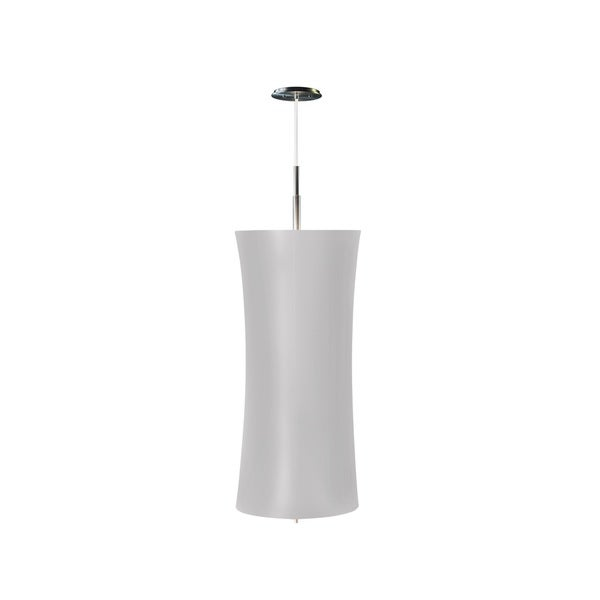 Sonneman Lighting Lightweights Large Cylinder Ceiling Pendant with Silver Shade