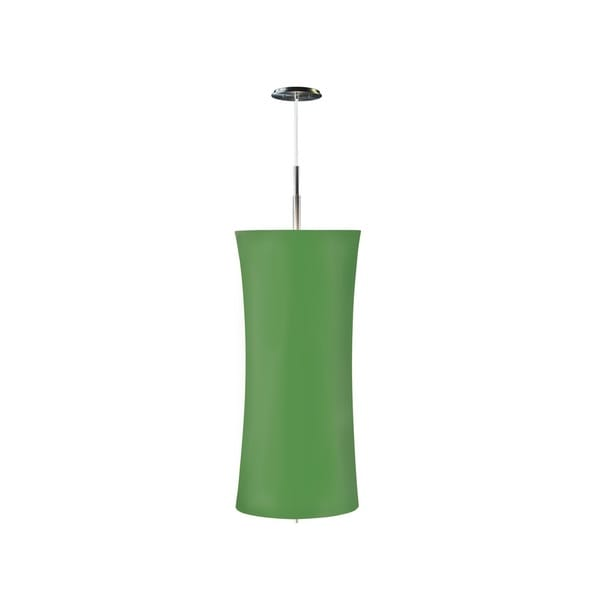 Sonneman Lighting Lightweights Large Cylinder Ceiling Pendant with Green Shade