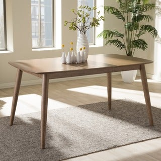 Baxton Studio Edna Mid-century Modern French Oak Finishing Dining Table