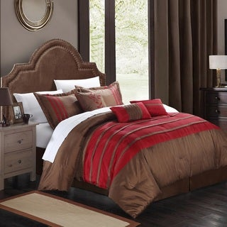 Chic Home Tijuana Burgundy 11-Piece Bed in a Bag with Sheet Set