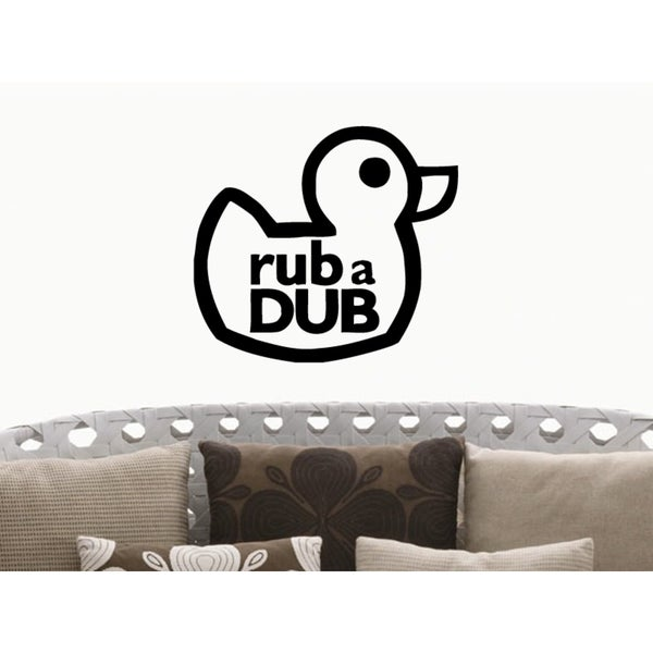 Cheerful duckling Rub A Dub Wall Art Sticker Decal