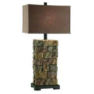 Crestview Collection 32.5 in. Sandstone Table Lamp