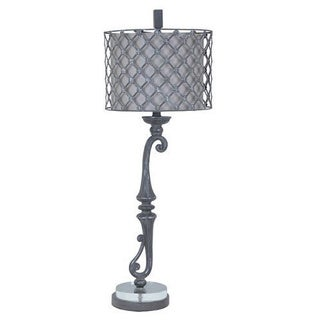 Crestview Collection 35.75 in. Grey Stone Table Lamp