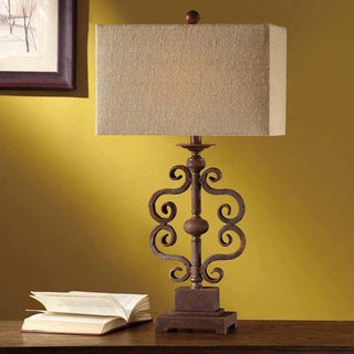 Crestview Collection 30.5 in. Brown Table Lamp