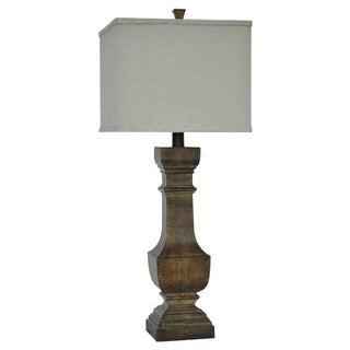 Crestview Collection 37 in. Natural Wood Table Lamp