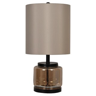 Crestview Collection 31.5 in. Champagne Mercury Table Lamp