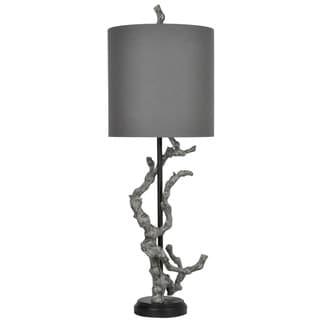 Crestview Collection 28 in. Antique Silver Leaf Table Lamp