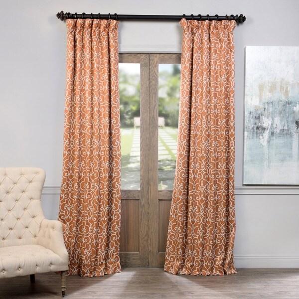 Exclusive Fabrics Nouveau Rust Print Blackout Curtain