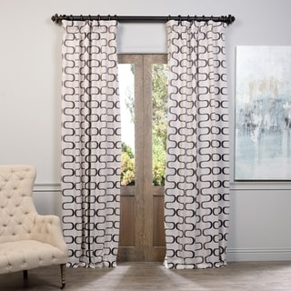 Exclusive Fabrics Retro Print Blackout Curtain Panel Pair