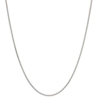 Pori Italian Sterling Silver 0.6mm Box Chain Necklace