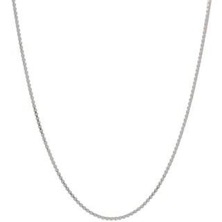 Pori Italian Sterling Silver 0.6mm Box Chain Necklace