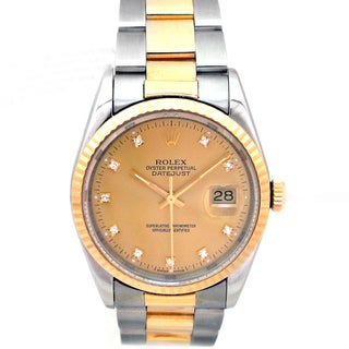Pre-owned 36mm Rolex 36mm Two-tone Stainless Steel Datejust Watch