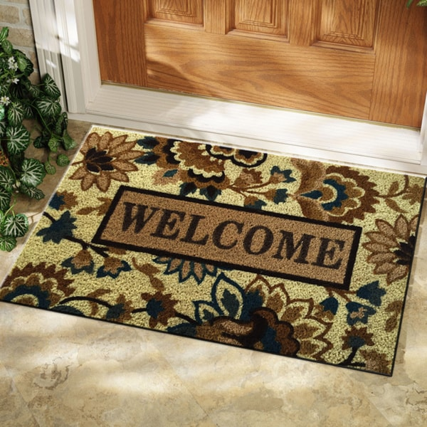 "Isabelle Floral Patterned Welcome Mat (18"" x 28"")"