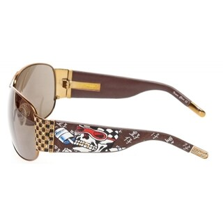 Ed Hardy EHS-019 Speed Kills Cocoa/Brown Sunglasses