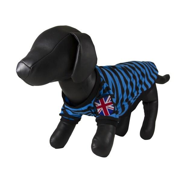 Petcessory Blue and Black Stripe Pattern Shirt