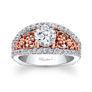 Barkev's Designer 14k Two-tone Gold 2ct TDW Round Diamond Engagement Ring (F-G, SI1-SI2)