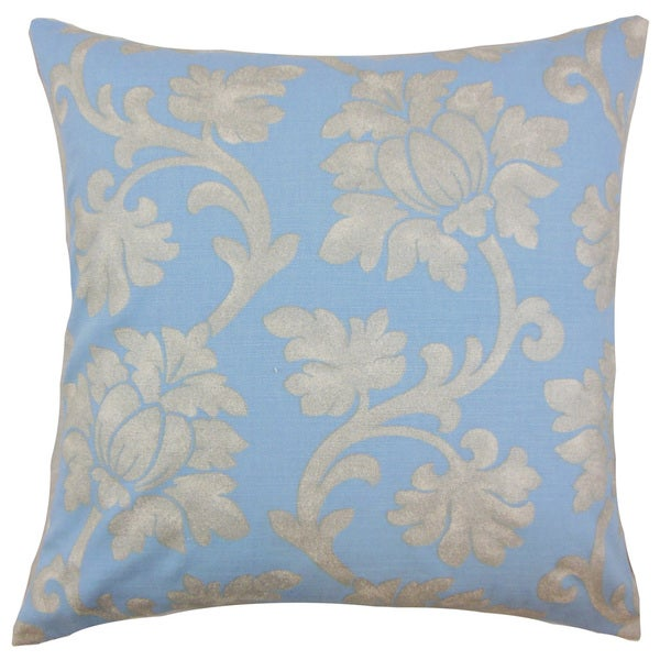 Patrice Floral Pillow Chambray