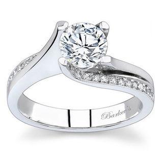 Barkev's Designer 14k White Gold 1 1/6ct TDW Round-cut Diamond Engagement Ring (F-G, SI1-SI2)