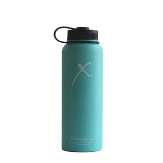 Xtreme Canteen 40-ounce Double Wall, Vacuum Insulated, 18/8 Stainless Steel Wide Mouth Water Bottle with Plastic Strap Lid