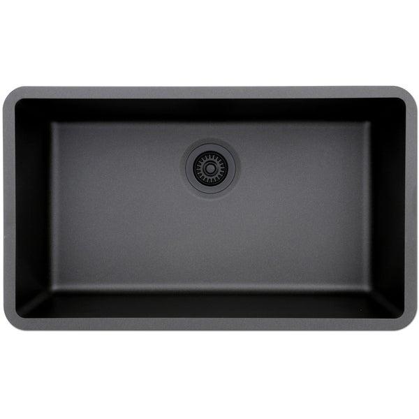 Lexicon Platinum Quartz Composite Kitchen Sink (Large Single Bowl)