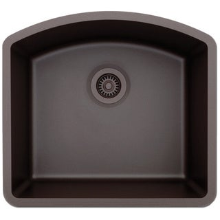 Lexicon Platinum D-Shaped Single Bowl Quartz Composite Kitchen Sink
