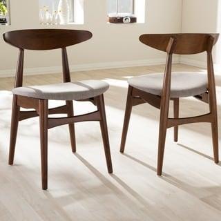 Baxton Studio Edna Mid-century Modern Medium Oak Finishing Dining Chair (Set of 2)