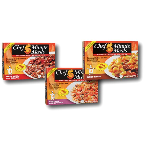 Taste of Home Chef Minute Meal Entrees (Set of 6)