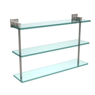 Allied Brass Montero Collection 22-inch Triple Tiered Glass Shelf