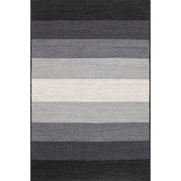 Indoor/ Outdoor Braided Black/ Ivory Rug (2'3 x 3'9) 17992938