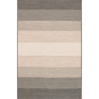 Indoor/ Outdoor Braided Neutral Rug (2'3 x 3'9)